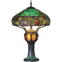 River of Goods 11912 | Hampstead Stained Glass 33.8 inch Turtleback & Mosaic Table Lamp | Image 1 - Main
