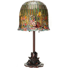 River of Goods 13829 | Hanging Lotus Stained Glass 29 inch Table Lamp | Image 1 - Main