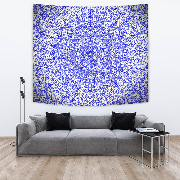 Blue Royalty Tapestry