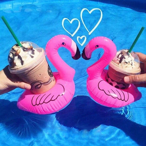 Inflatable Flamingo Drink Holder - 3 pack