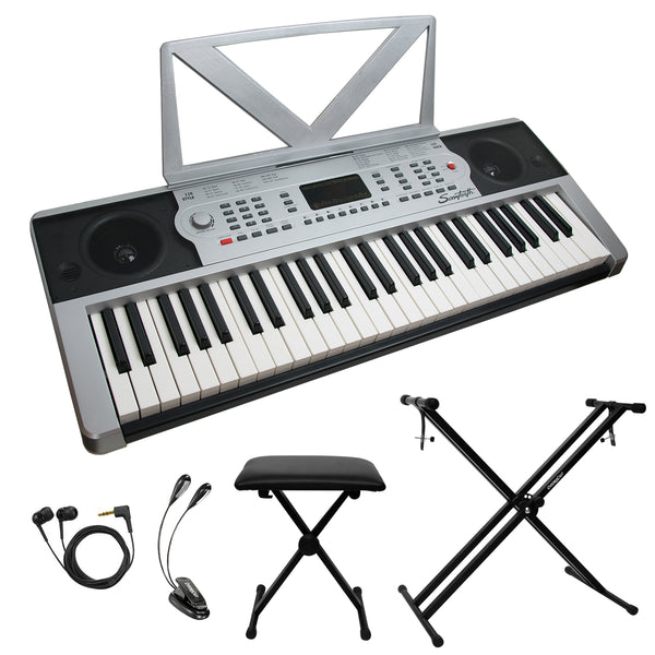 Sawtooth 54-Key Portable Keyboard with Accessories
