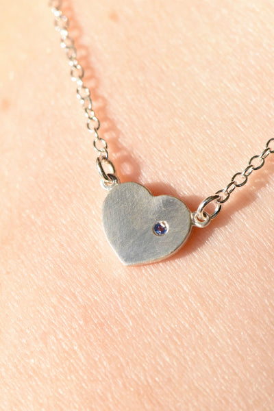 """With Love in My Heart"" Necklace: Benefitting National CASA (Blue Sapphire)"