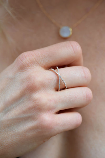 Diamond & 14 KT Rose Gold Ring: Benefitting Your Choice of Charity
