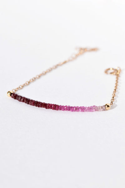 Ruby & Pink Sapphire Bracelet: Benefitting Your Choice of Charity
