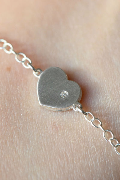 """With Love in My Heart"" Bracelet: Benefitting American Humane Association (White Diamond)"