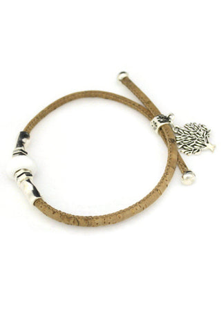 Arbor White Cork Essential Oil Diffuser Bracelet- Adjustable-Diffuser Bracelet-Destination Oils