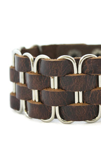 Bold Leather Cuff Essential Oil Bracelet- Unisex Men/Women-Diffuser Bracelet-Destination Oils