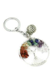 Chakra Tree Essential Oil Diffuser Keychain- Multi-colored-Diffuser Bracelet-Destination Oils