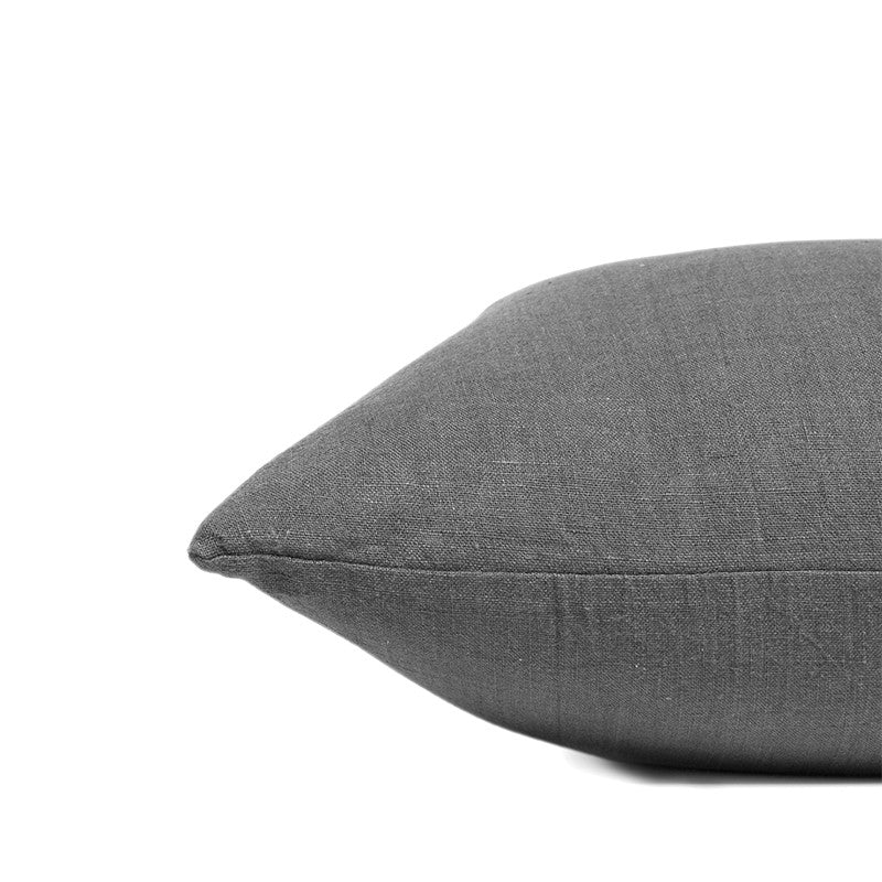 Linen cushion pebble solid