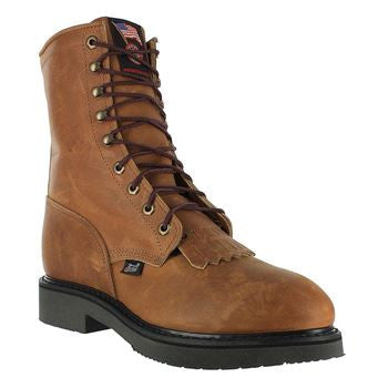 "Justin Mens 8"" Safety Toe Lace Up J764  EH - www.Safetytoe.com Safety Toe Boots - safety toe boots  Safetytoe.com - www.safetytoe.com"
