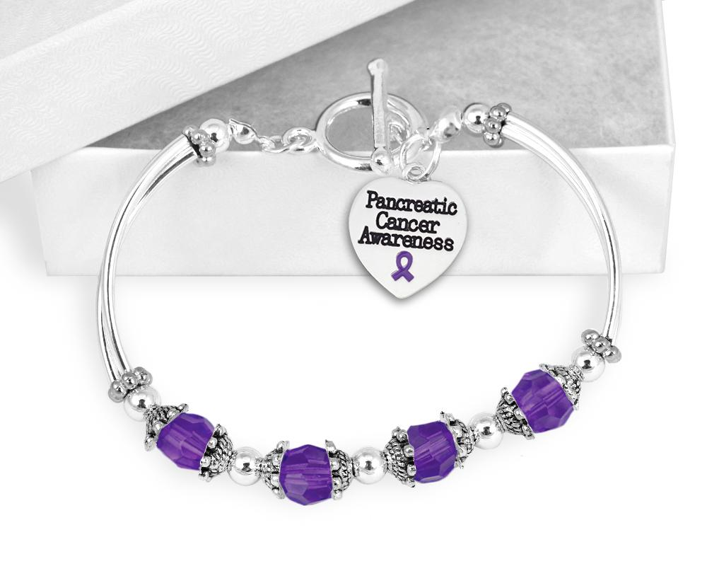 Pancreatic Cancer Awareness Toggle Bracelet