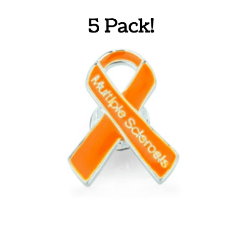 5 Pack Multiple Sclerosis Awareness Pins