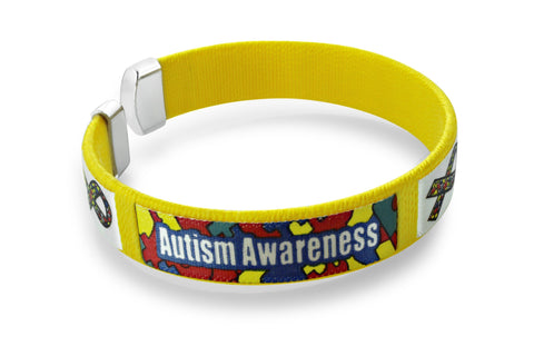 Autism Awareness Bangle Bracelet