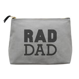 rad dad canvas wash bag grey accessories