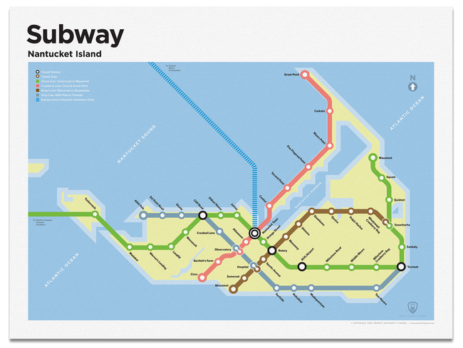 Nantucket Bookstore Nantucket Subway Map