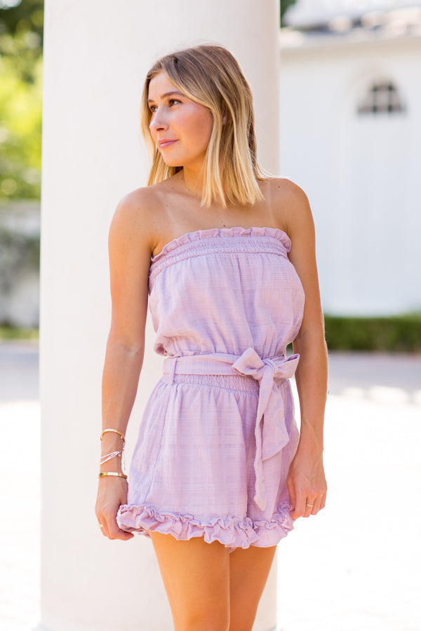 Living The Dream Romper- Lavender