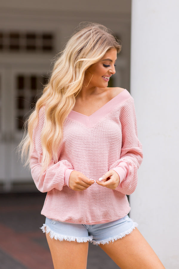 Spring Sleeves Top- Pink