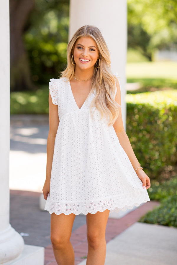 So Sweet Babydoll Romper- White