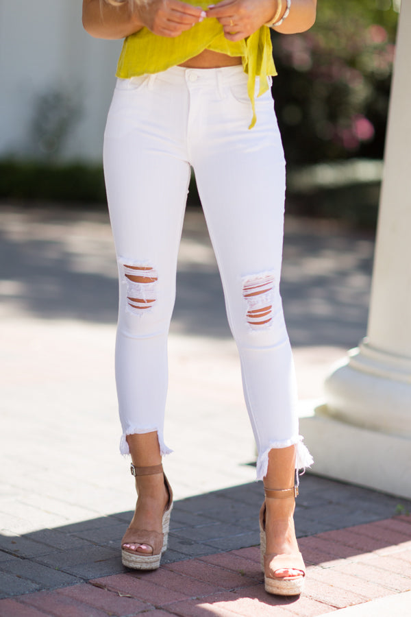 Edge of Glory Jeans - White