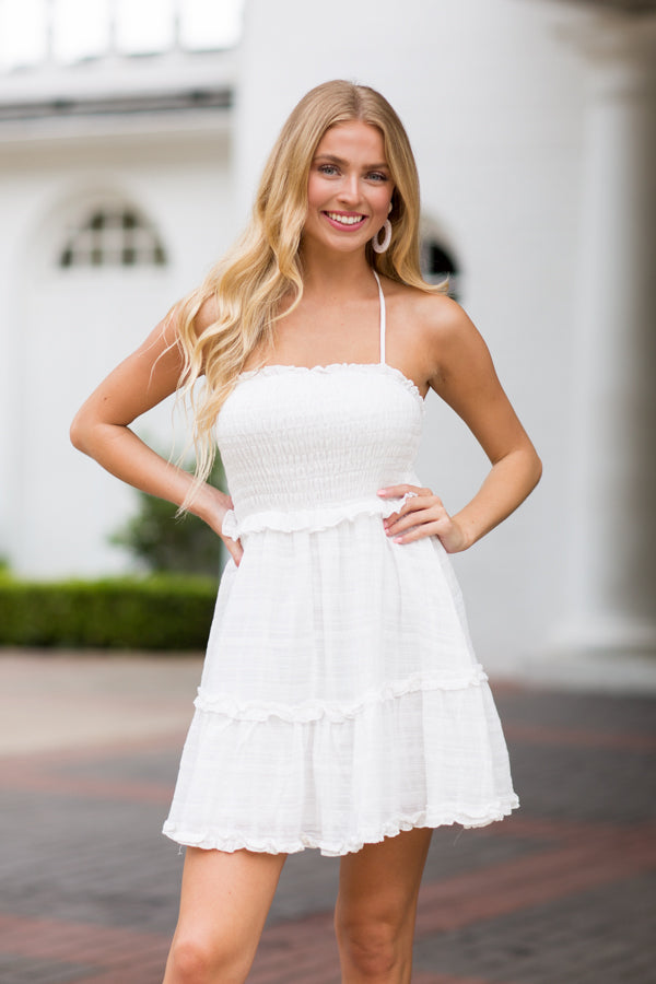 Sun Showers Dress- White