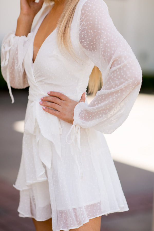 Sheer Perfection Dress- White
