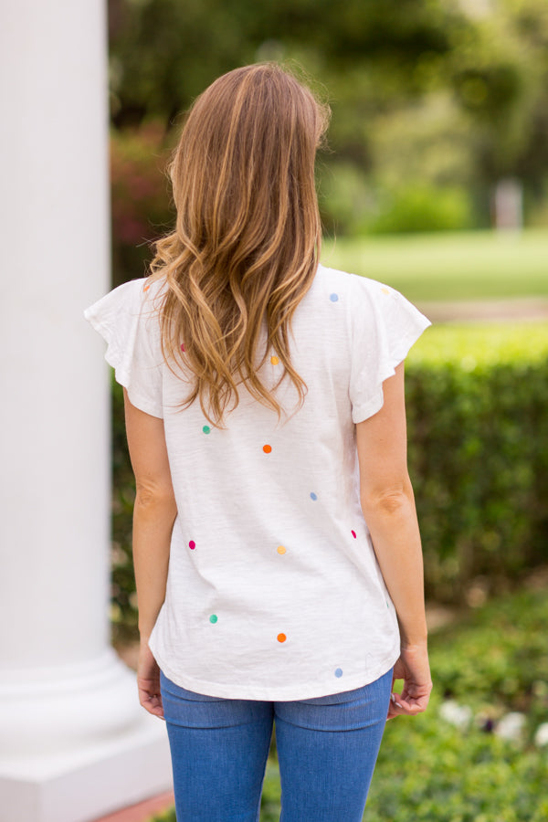 Pop The Confetti Tee - White