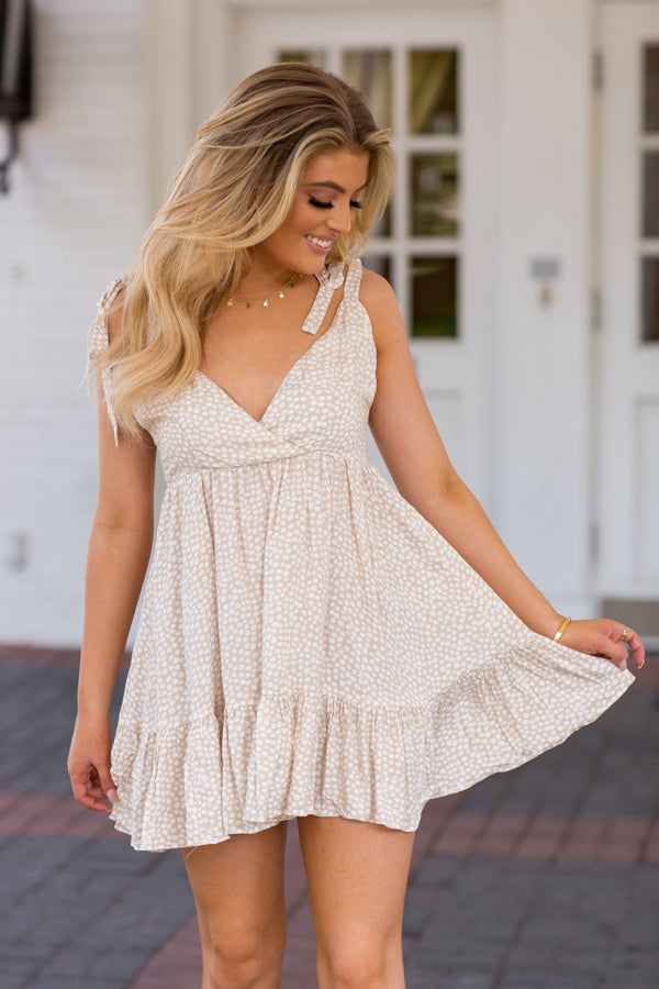 Feelin' Salty Dress- Khaki