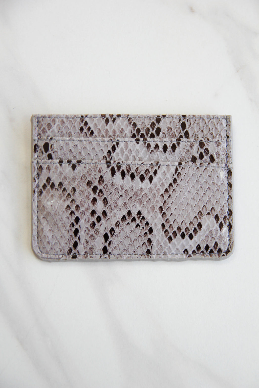 Snakeskin Three Fold Wallet - Dark Grey