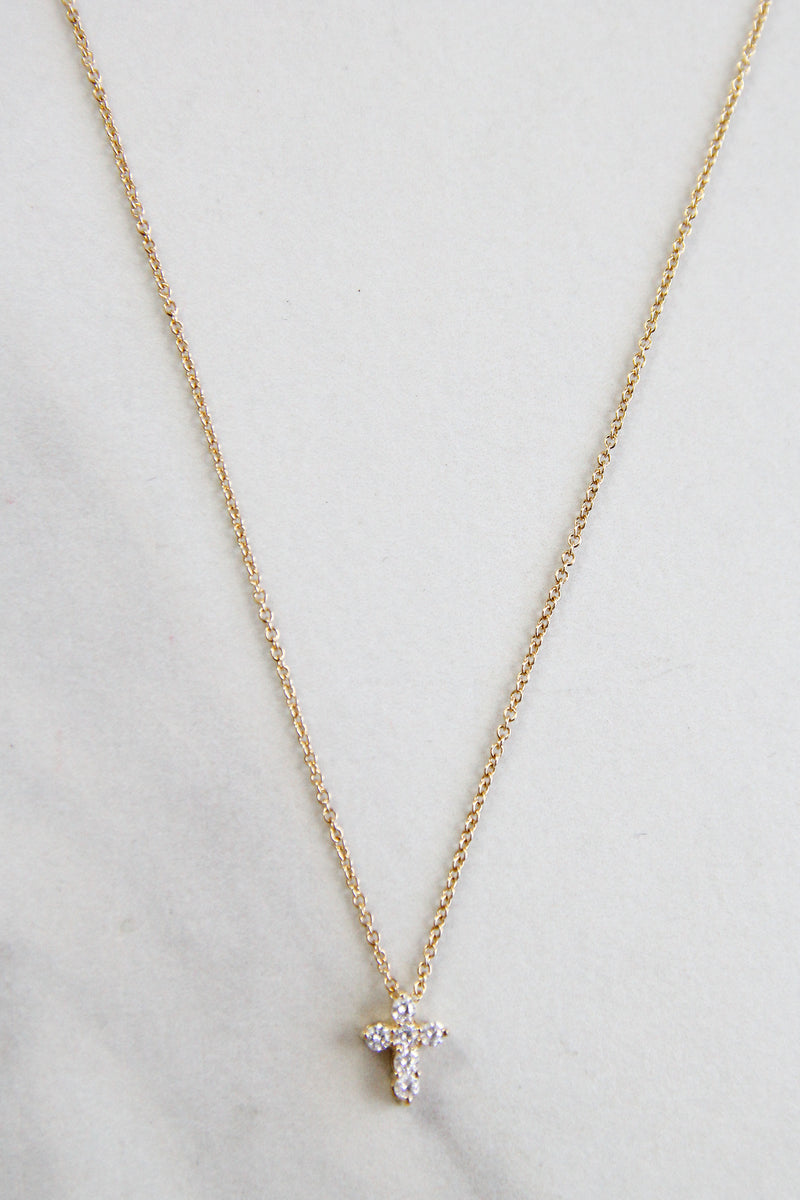 Chapelle Cross Necklace - Gold