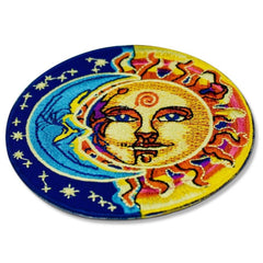 psychedelic sun and moon
