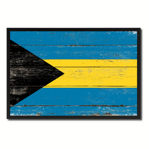 Bahamas Country National Flag Vintage Canvas Print with Picture Frame Home Decor Wall Art Collection Gift Ideas
