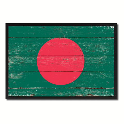 Bangladesh Country National Flag Vintage Canvas Print with Picture Frame Home Decor Wall Art Collection Gift Ideas