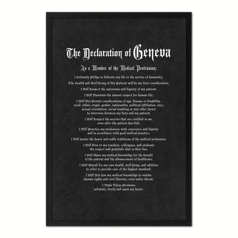Hippocratic Medical Oath, Hippocratic Oath, Medical Gifts, Gift for Doctor, Medical Decor, Medical Student, Office Decor, doctor office, Black Frame