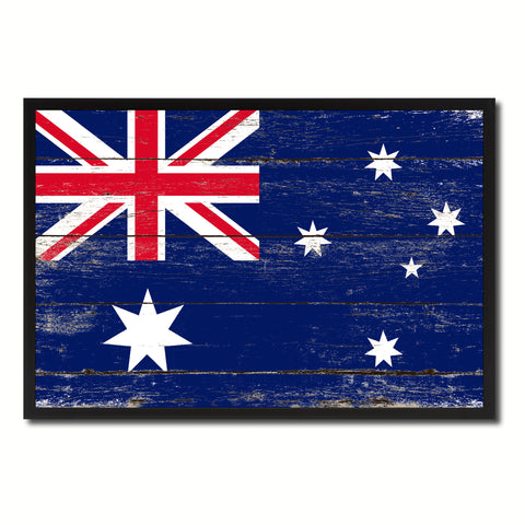 Australia Country National Flag Vintage Canvas Print with Picture Frame Home Decor Wall Art Collection Gift Ideas