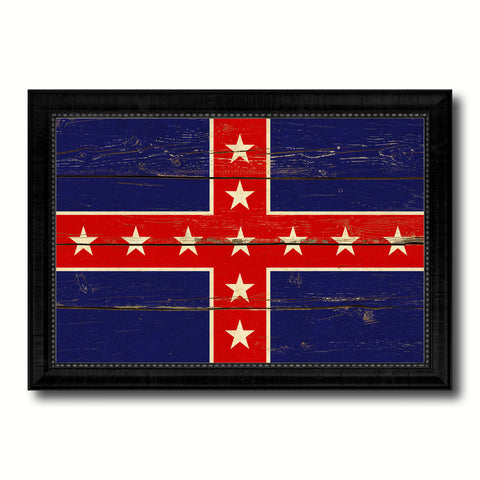 Army of Tennessee Military Flag Vintage Canvas Print with Black Picture Frame Home Decor Wall Art Decoration Gift Ideas