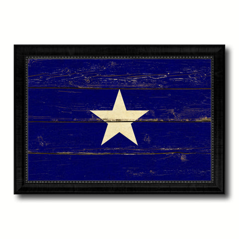 Bonnie Blue in Republic of West Florida Military Flag Vintage Canvas Print with Black Picture Frame Home Decor Wall Art Decoration Gift Ideas
