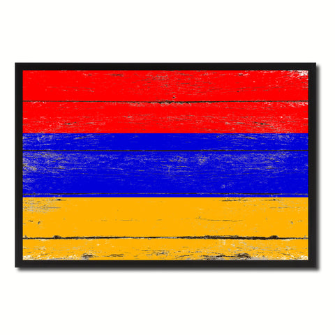 Armenia Country National Flag Vintage Canvas Print with Picture Frame Home Decor Wall Art Collection Gift Ideas