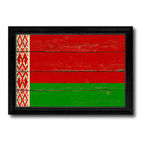 Belarus Country Flag Vintage Canvas Print with Black Picture Frame Home Decor Gifts Wall Art Decoration Artwork