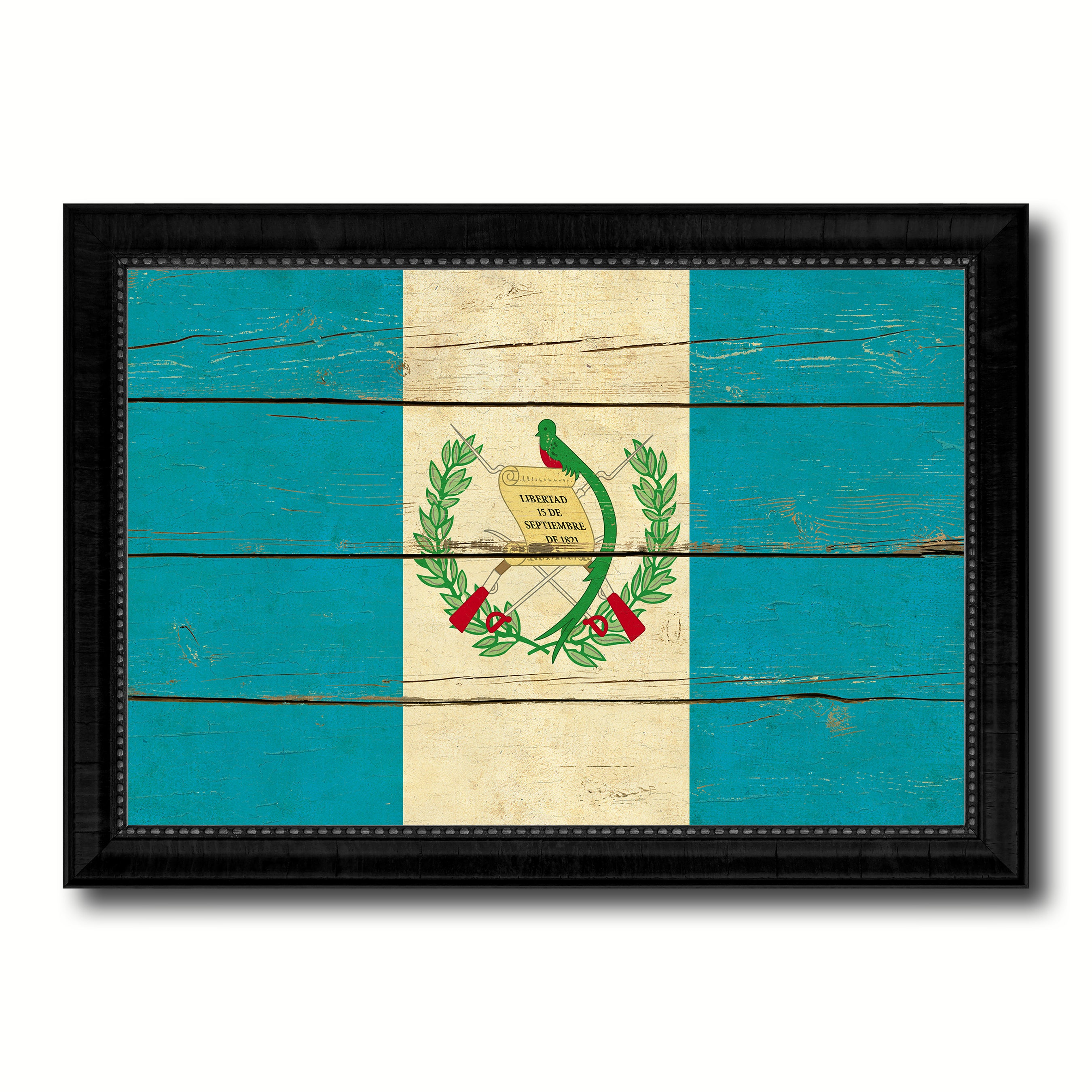 Guatemala Country Flag Vintage Canvas Print with Black Picture Frame Home Decor Gifts Wall Art Decoration Artwork