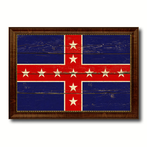 Army of Tennessee Military Flag Vintage Canvas Print with Brown Picture Frame Gifts Ideas Home Decor Wall Art Decoration