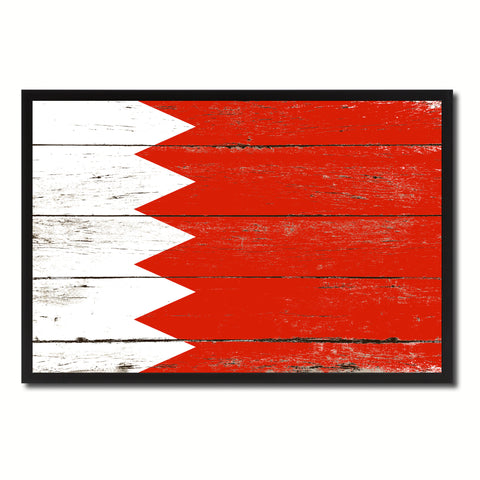 Bahrain Country National Flag Vintage Canvas Print with Picture Frame Home Decor Wall Art Collection Gift Ideas