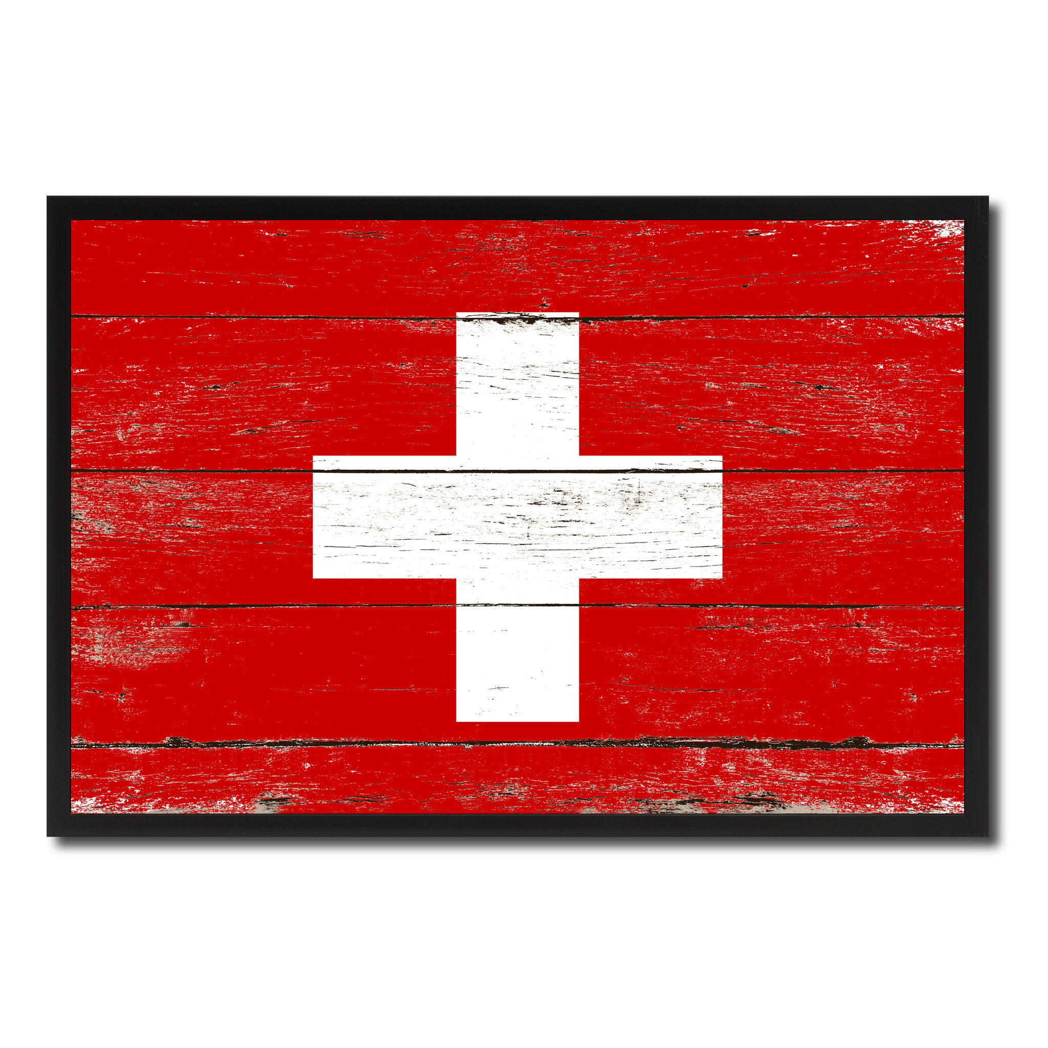 Switzerland Country National Flag Vintage Canvas Print with Picture Frame Home Decor Wall Art Collection Gift Ideas