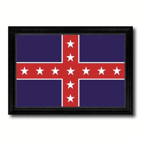Army of Tennessee Military Flag Canvas Print Black Picture Frame Gifts Home Decor Wall Art