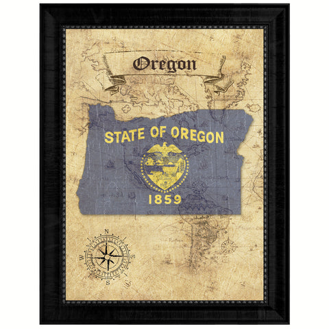 Oregon State Vintage Map Gifts Home Decor Wall Art Office Decoration