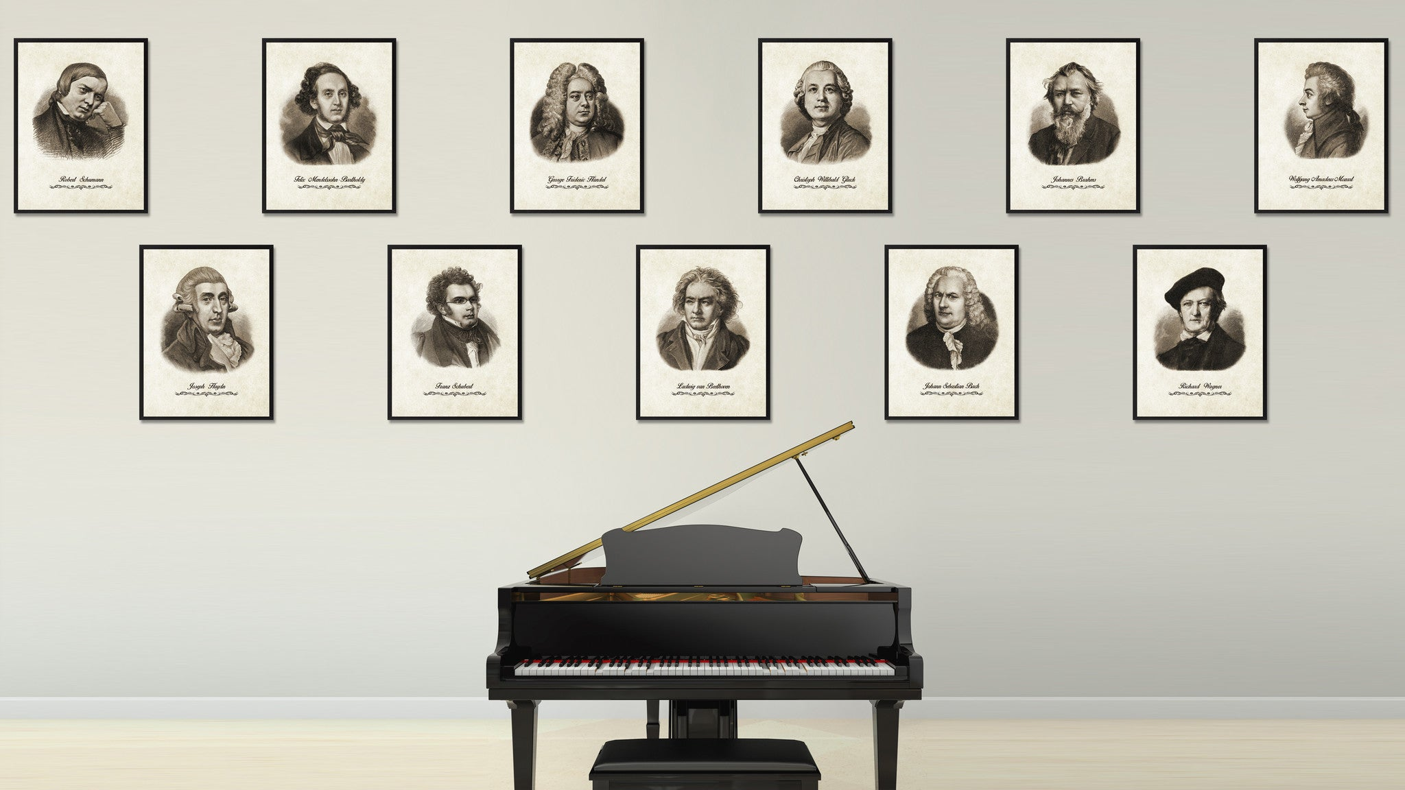 Haydn Musician Canvas Print Pictures Frames Music Home Décor Wall Art Gifts