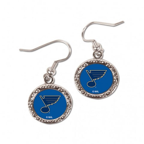 St. Louis Blues Earrings Round Style