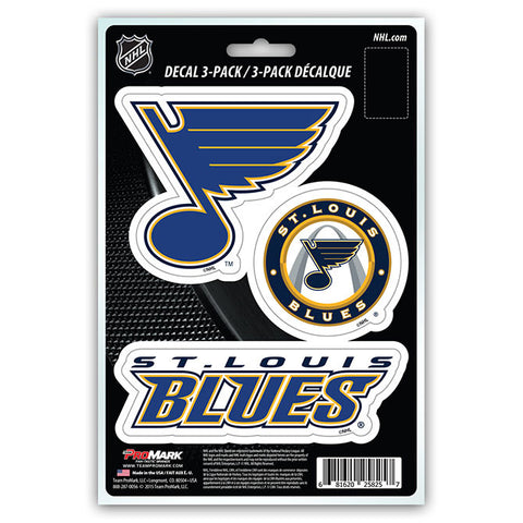 St. Louis Blues Die Cut Team Decals 3pk