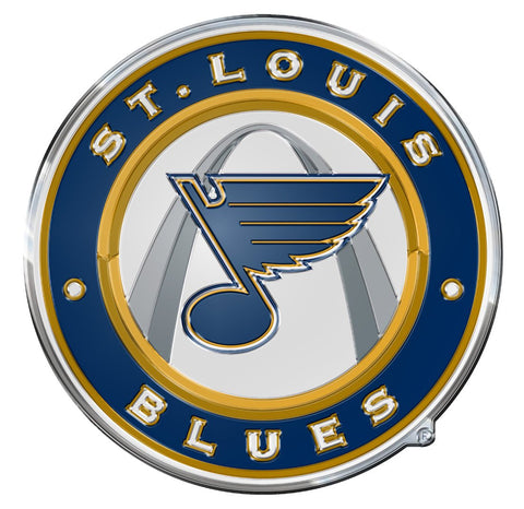 St. Louis Blues Color Auto Emblem