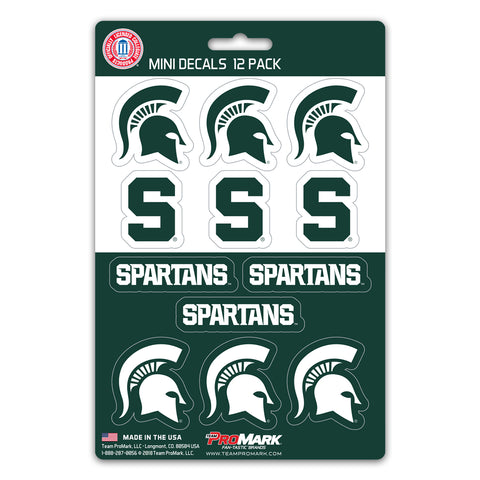 Michigan State Spartans 12 Pack Decal Set