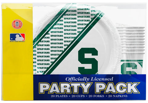 Michigan State Spartans 80 Piece Premium Party Pack
